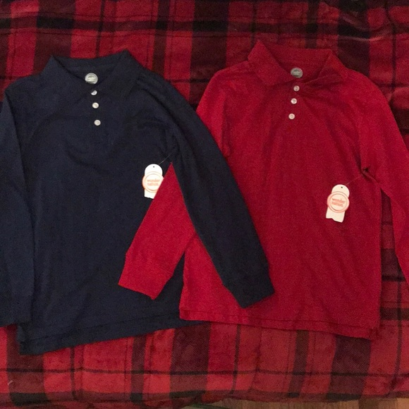 284bb1e46 wonder nation Shirts & Tops | Long Sleeve Polos Set Of 2 New With ...